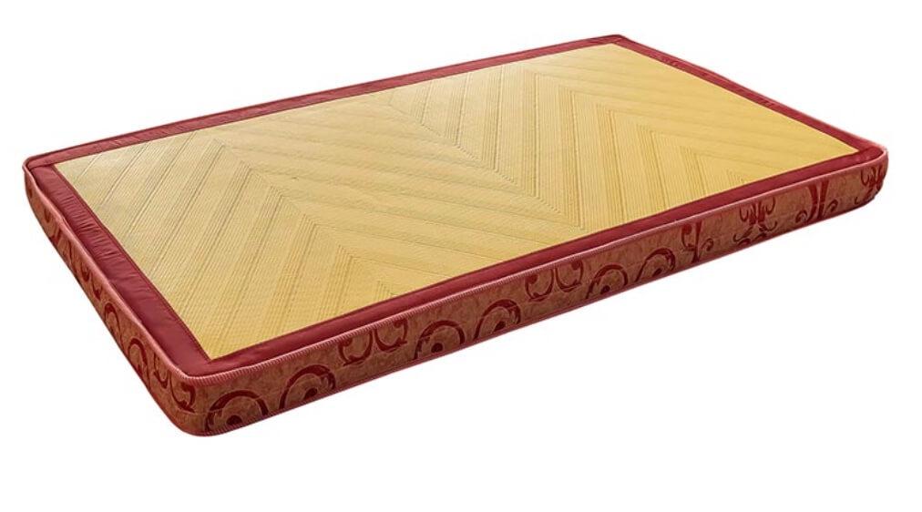傳統連結式床墊使用的竹蓆